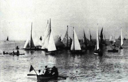 Partenza della regata ai primi del secolo