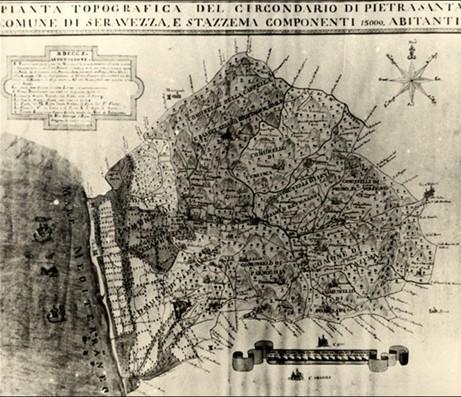 Pianta topografica del Circondario di Pietrasanta, Seravezza e Stazzema